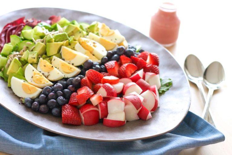 Rainbow Celebration Salad - Eat Spin Run Repeat