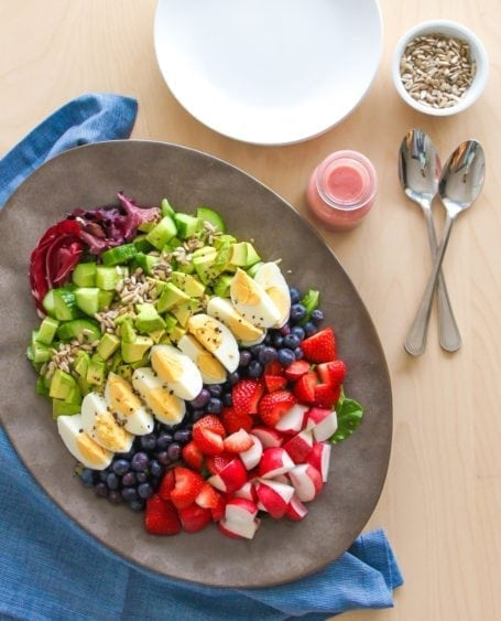 Rainbow Celebration Salad - Eat Spin Run Repeat