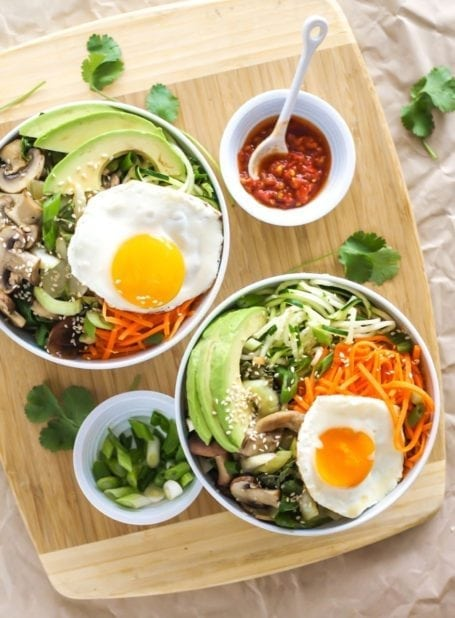 Veggie Korean Bibimbap - Eat Spin Run Repeat