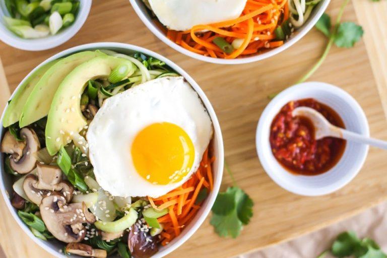 Veggie Korean Bibimbap - Eat Spin Run Repeat