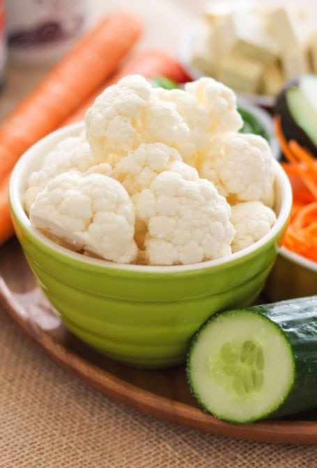 cauliflower and cucumber