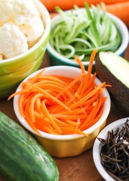 julienne carrot