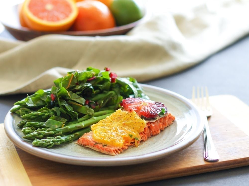 Baked Salmon with Citrus and Herbs - Eat Spin Run Repeat