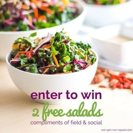 Field & Social Giveaway - Eat Spin Run Repeat