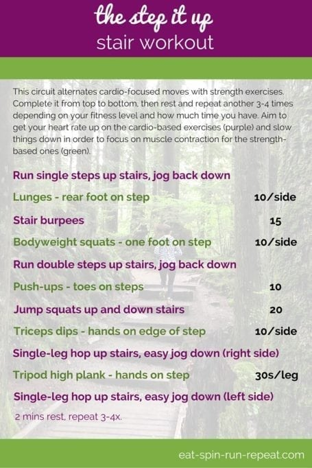 Fit Bit Friday 240 - The Step It Up Stair Workout - Eat Spin Run Repeat