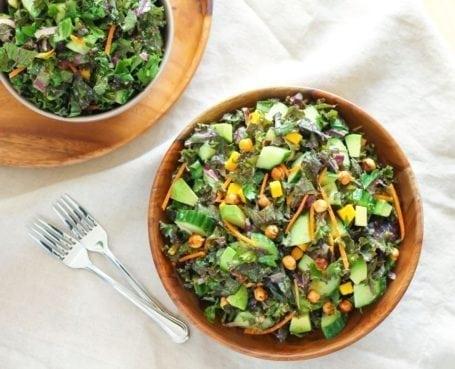 Glowing Green Kale Salad - Eat Spin Run Repeat