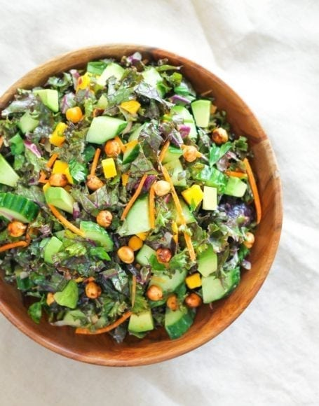 Glowing Green Kale Salad - Eat Spin Run Repeat