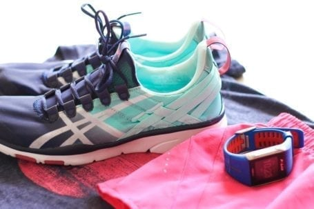 asics and polar v800