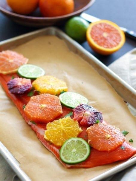 citrus on sockeye salmon - eat spin run repeat