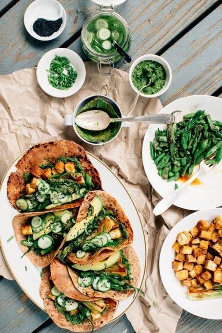 Funky Green Tacos - Earthy Feast