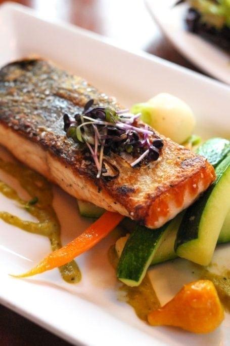 Grilled Salmon at Buffalo Mountain Lodge