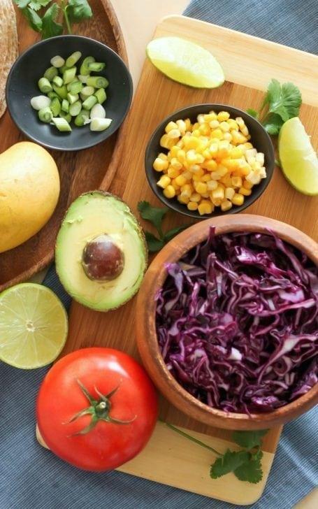 Ingredients for Cajun Mahi Mahi Tacos - Eat Spin Run Repeat