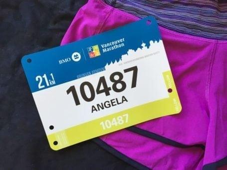 My race number - BMO Half Marathon 2016