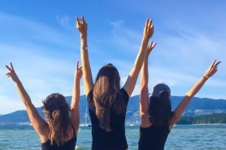 after seawheeze at kits beach with christina and danielle