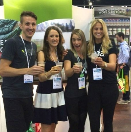 cheers at the vega booth - chfa west 2016