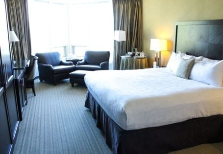 grand view room at rimrock resort, banff