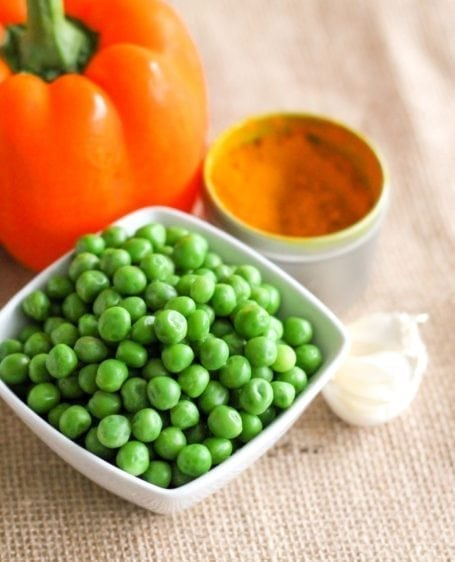 green peas and pepper