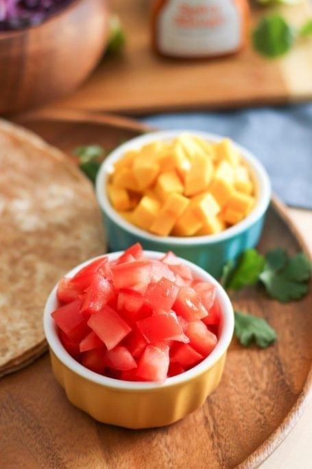 tomatoes and mango