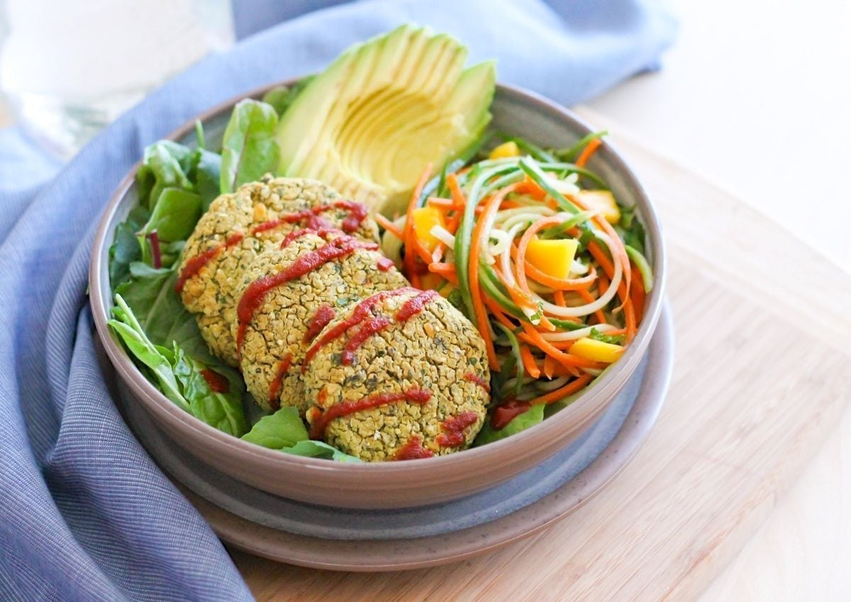 Baked Green Curry Falafels - Eat Spin Run Repeat