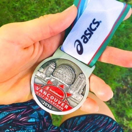 Medal from Scotiabank Vancouver Half Marathon 2016