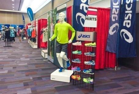 Scotiabank Vancouver Half Marathon Expo - Asics booth