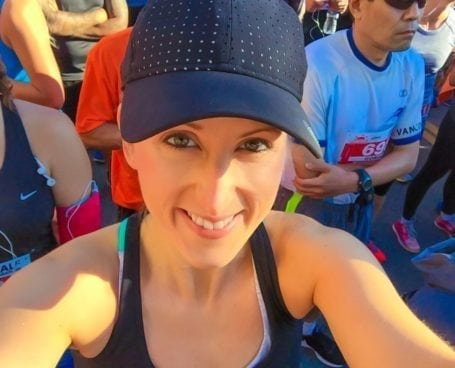 Start line selfie at Scotiabank Vancouver Half Marathon
