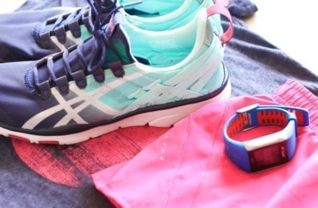 asics gel fit sanas and polar v800