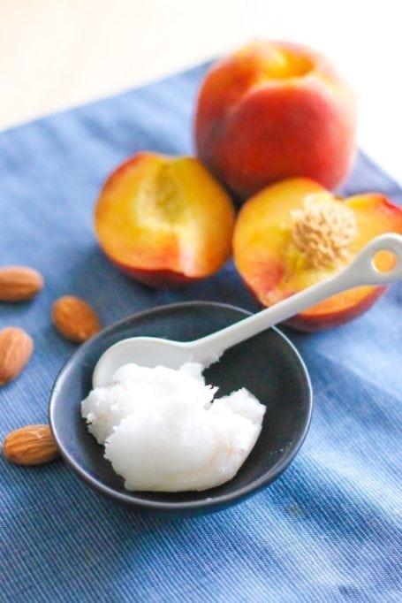 coconut oil and peaches