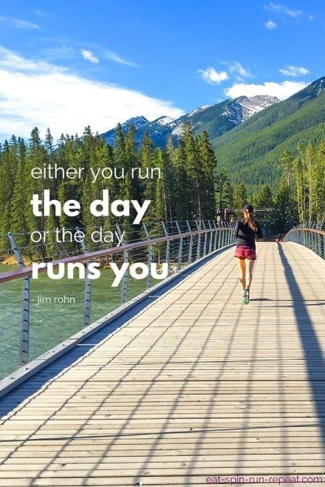 either you run the day or the day runs you - jim rohn