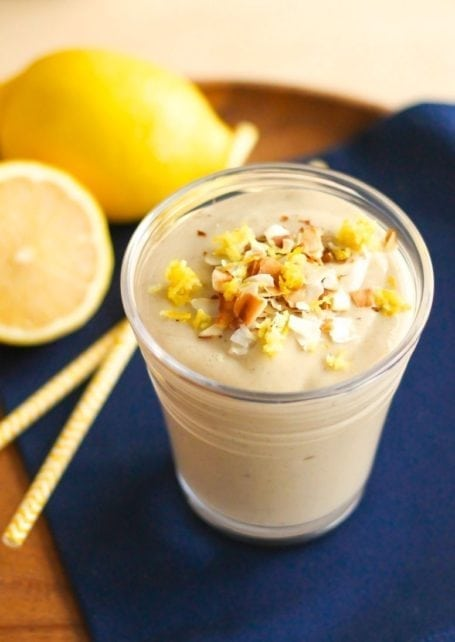 lemon meringue smoothie - eat spin run repeat