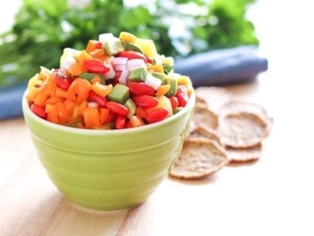 Pineapple Pepper Goji Salsa - Eat Spin Run Repeat