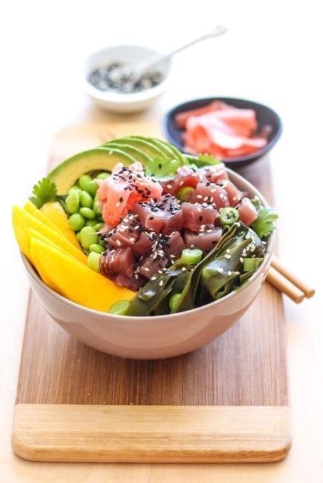 Tuna Poke Bowl - Eat Spin Run Repeat