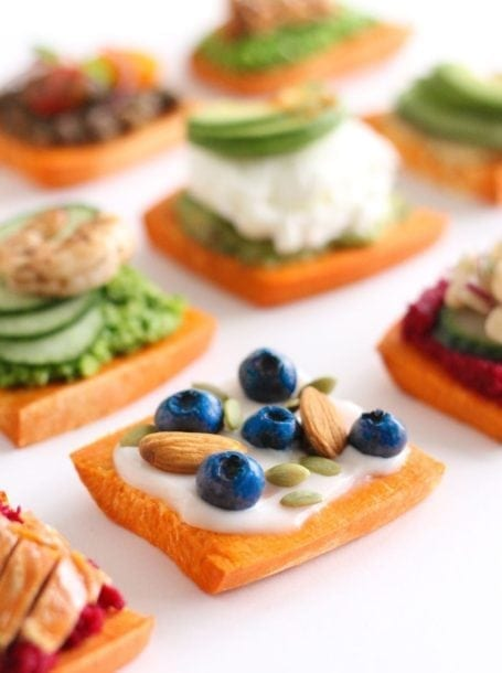 blueberry almond pumpkin seed sweet potato toast