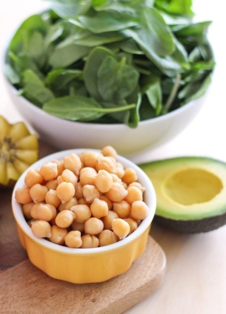 chickpeas and avocado