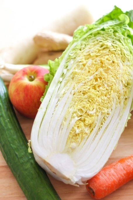 napa cabbage and cucumber