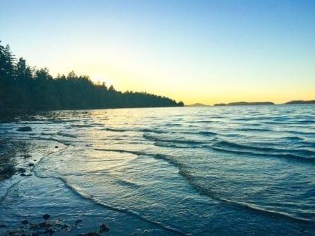 sunset in salt spring