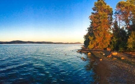 sunset in salt spring