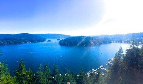 view from the top of Quarry Rock Vancouver