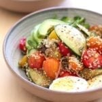 Heirloom Baby Tomato, Cucumber and Quinoa Salad with Balsamic Vinaigrette || Eat Spin Run Repeat