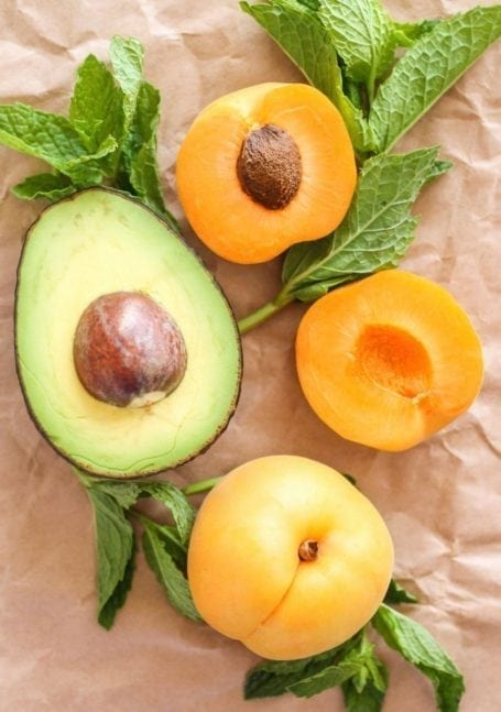 avocado and apricot