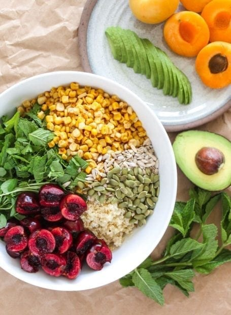 ingredients for Summer Bliss Salad - Eat Spin Run Repeat