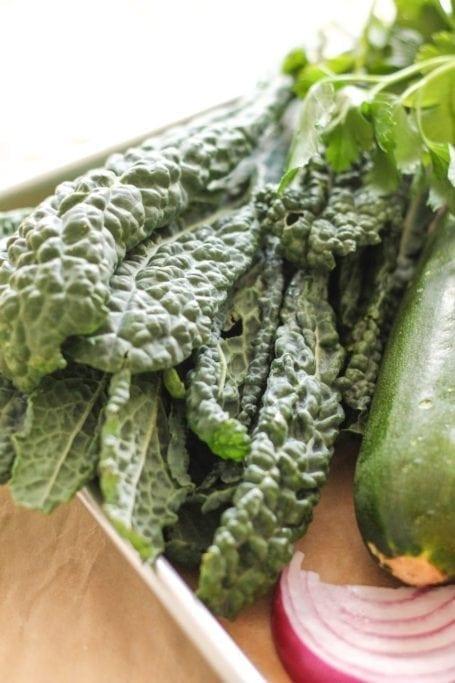 kale and zucchini