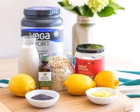 Vegan Lemon Poppy Seed Protein Squares - Eat Spin Run Repeat