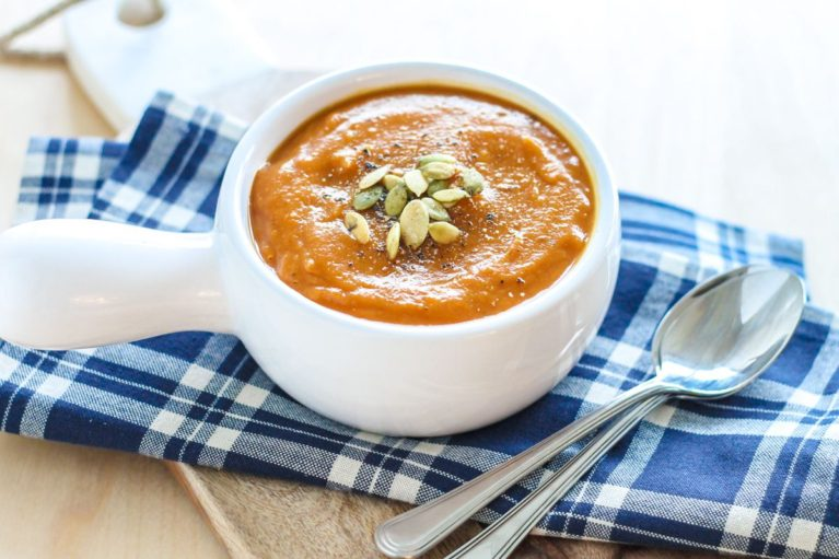 Butternut Squash Carrot and Ginger Soup - Eat Spin Run Repeat