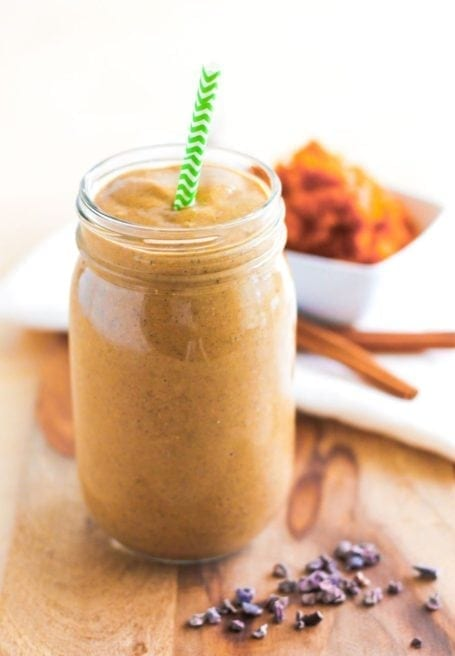 Cinnamon Pumpkin Cacao Smoothie - Eat Spin Run Repeat