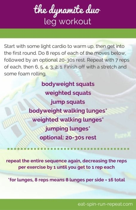 Fitness Friday 266: The Dynamite Duo Leg Workout - Eat Spin Run Repeat