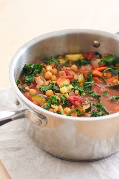 Vegan Chickpea Lentil and Kale Stew - Eat Spin Run Repeat
