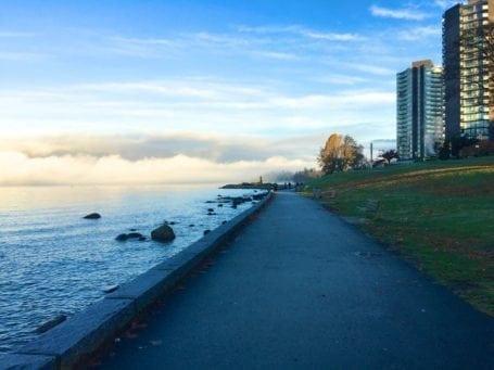 fog on the sea wall