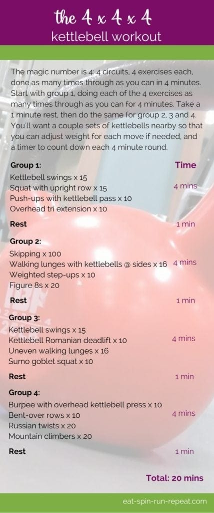 Fitness Friday 268: The 4x4x4 Kettlebell Workout