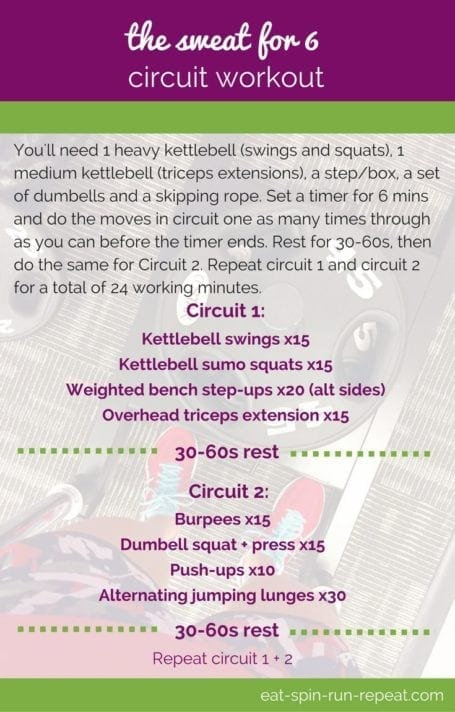 Fitness Friday 269: The Sweat for Six Circuit Workout